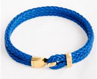 Серебряный браслет с застежкой-крюком позолота