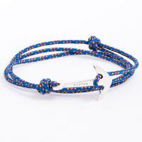 Синий нейлоновый браслет с якорем ТОТЕМ