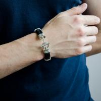 Классический стильный браслет из серебра