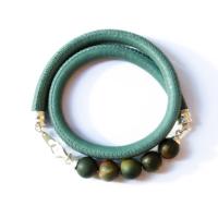 Женский браслет из бусин яшмы