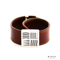 Кожаный слэп-браслет четыре элемента