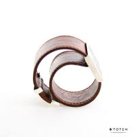 Слэп-браслет из кожи и серебра