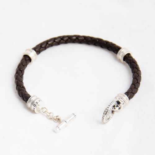 Стильный браслет из стерлингового серебра